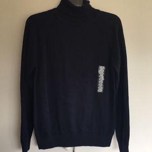 New Jeanne Pierre Navy Turtleneck Sweater